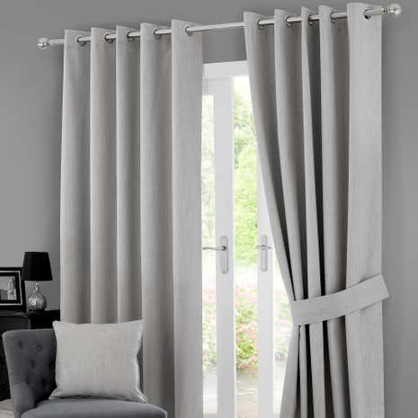 Grey Solar Blackout Eyelet Curtain Collection Dunelm
