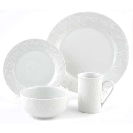 White On White Dinnerware Collection Dunelm