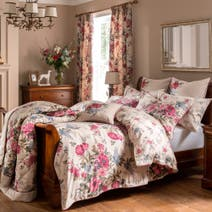 Dorma Lavinia Red Bed Linen Collection