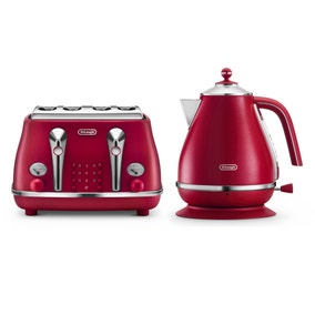 Delonghi Elements Flame Red Collection