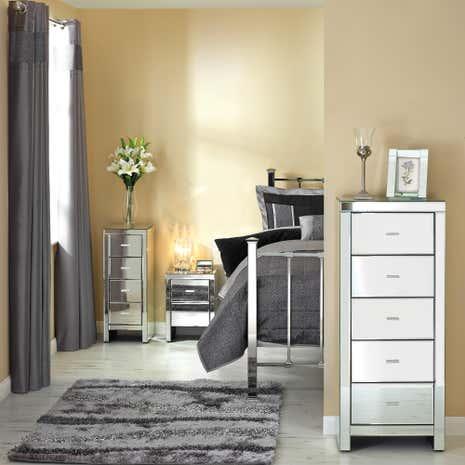 venetian mirrored bedroom collection | dunelm