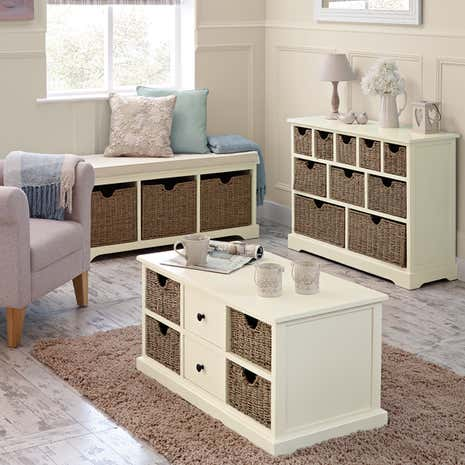 Cottage Ivory Living Furniture Collection Dunelm