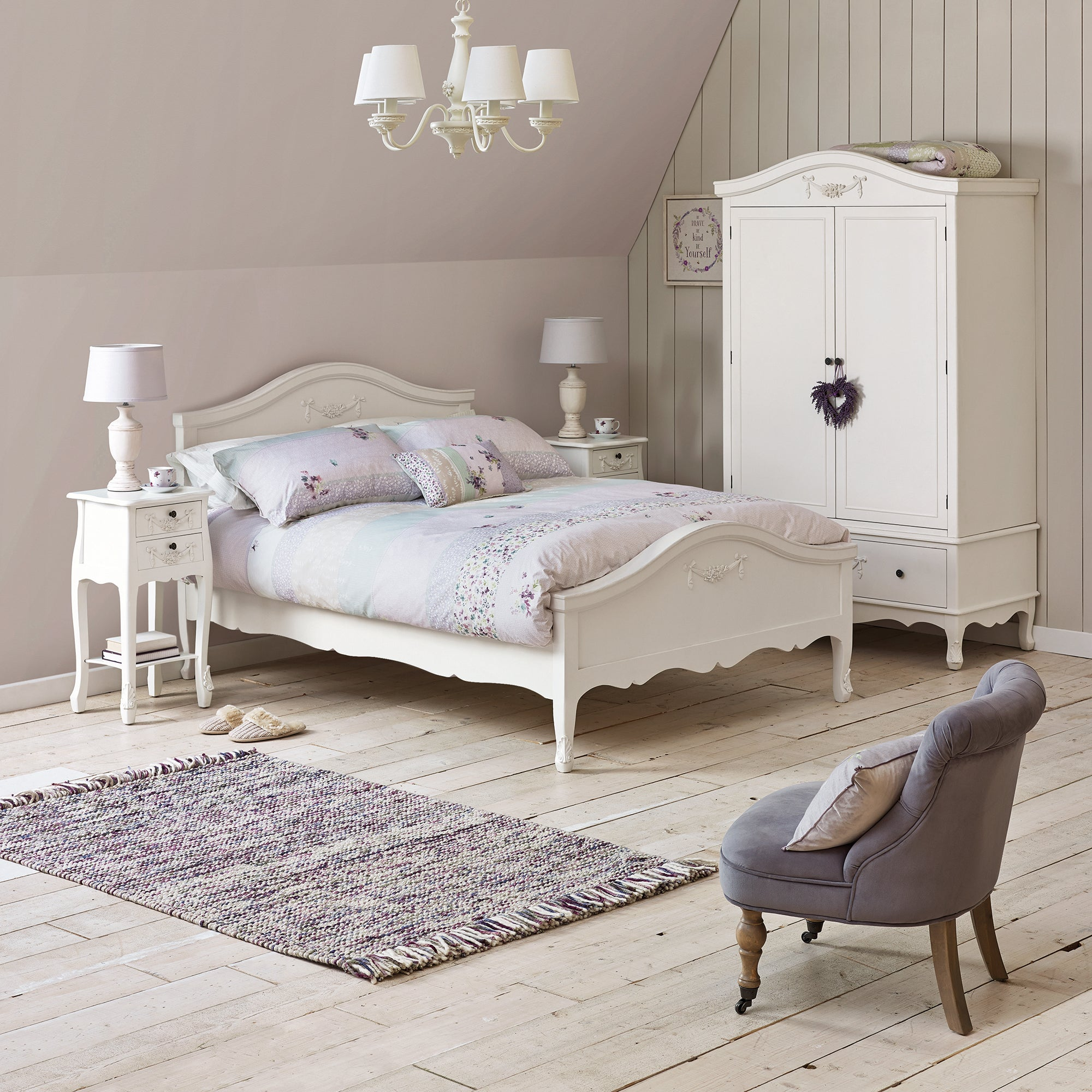 Toulouse White Bedroom Collection Dunelm - Toulouse bedroom furniture white