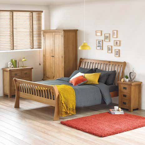 Aylesbury Oak Bedroom Collection. Oak Furniture   Solid Oak Bedroom Furniture   Dunelm