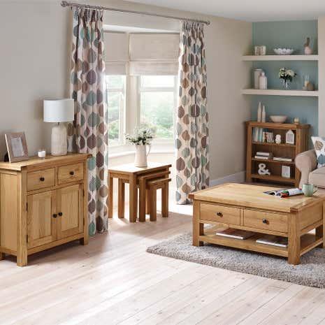 Harrogate Oak Living Room Collection Dunelm