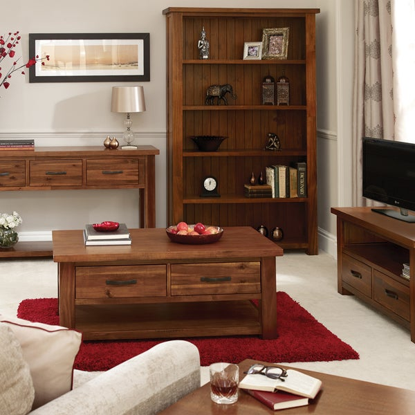 Oxford Acacia Dark Wood Living Furniture Collection