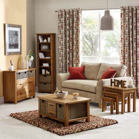 Sidmouth Oak Living Room Collection Dunelm