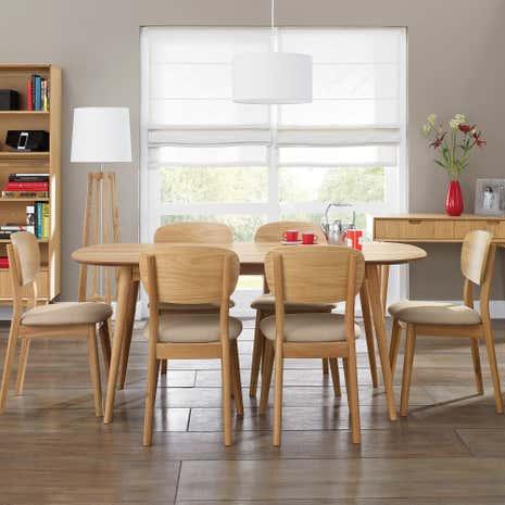 Skandi Oak Dining Room Collection Dunelm