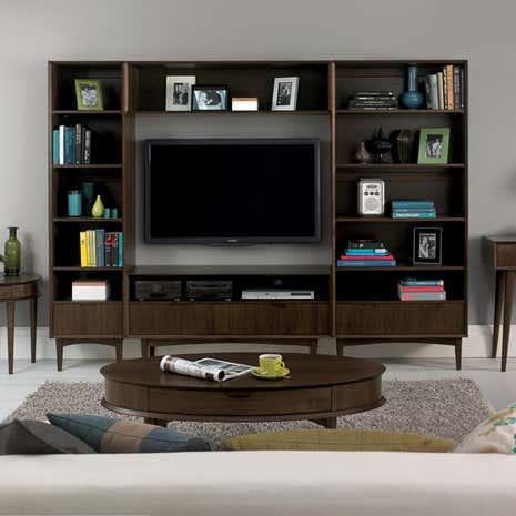 Skandi Walnut Living Room Collection Dunelm