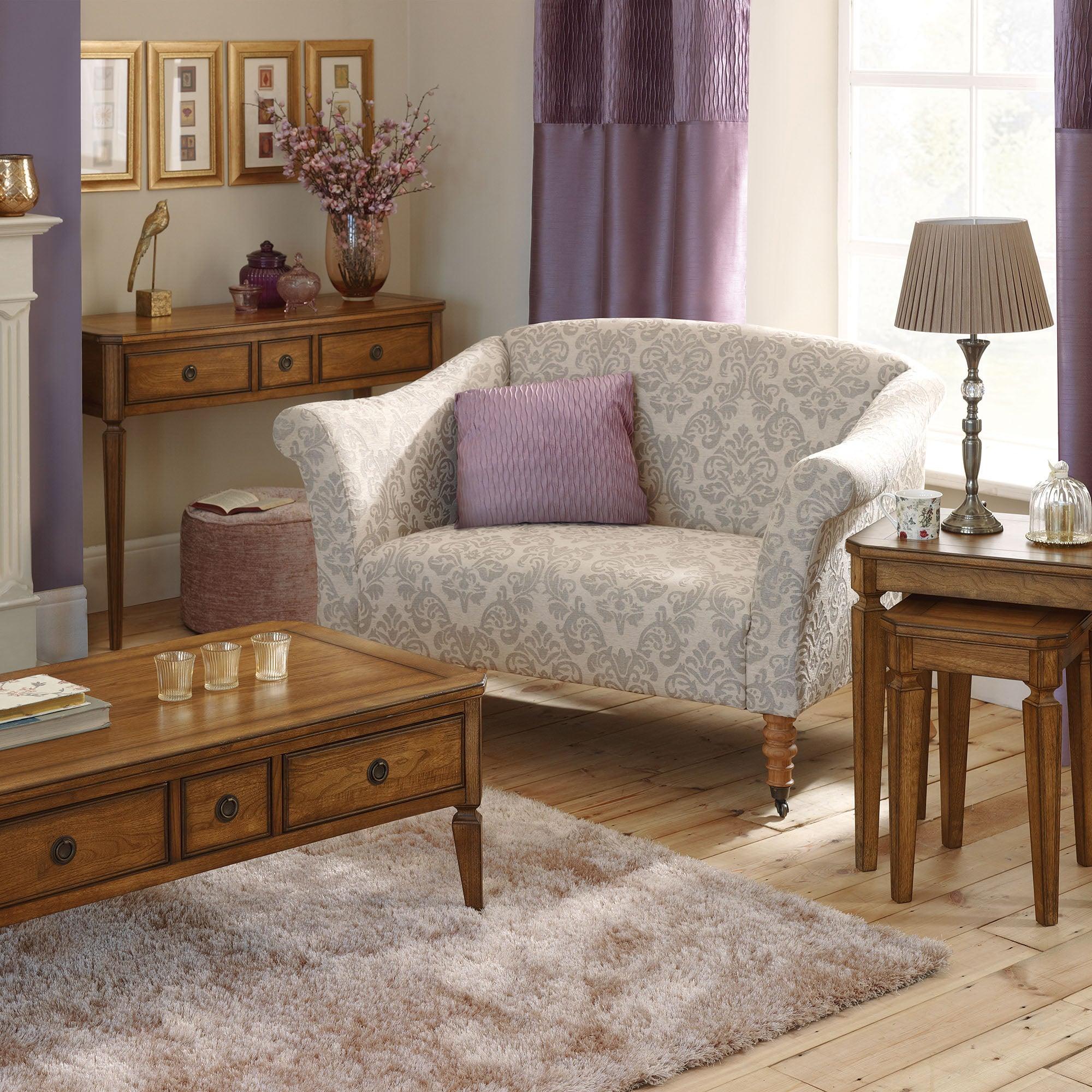 Madeline Oak Living Room Collection Dunelm