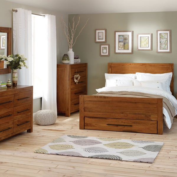 Columbia Acacia Dark Wood Bedroom Furniture Collection