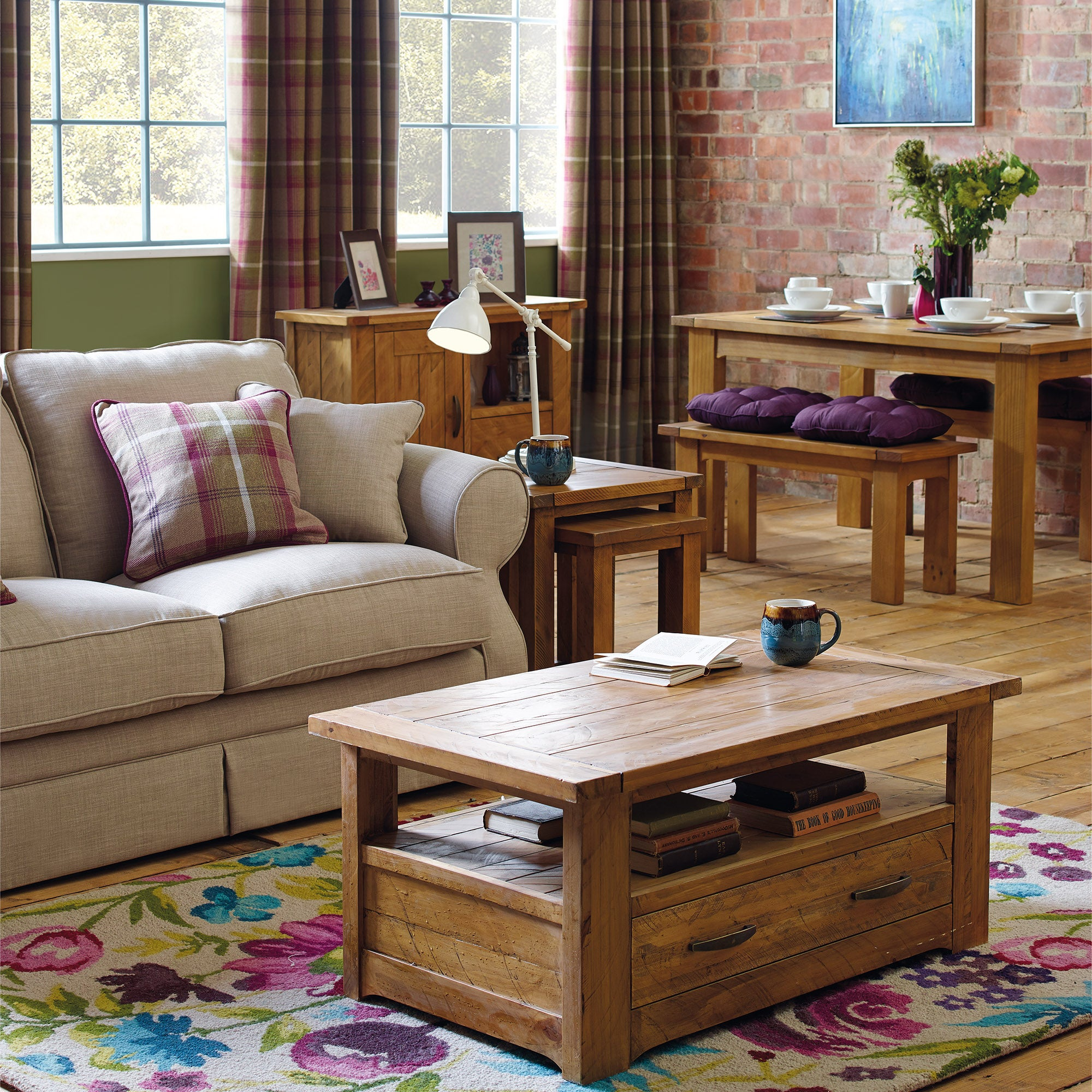 Loxley Pine Living Room Collection