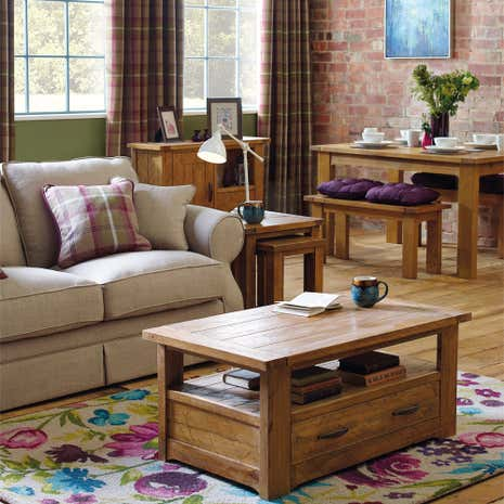 Loxley Pine Living Room Collection Dunelm