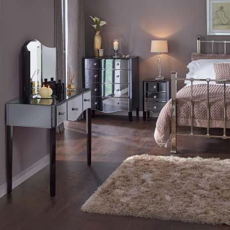mirroed furniture. viola smoke bedroom collection mirroed furniture