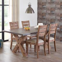 Harvey Acacia Dark Wood Dining Collection