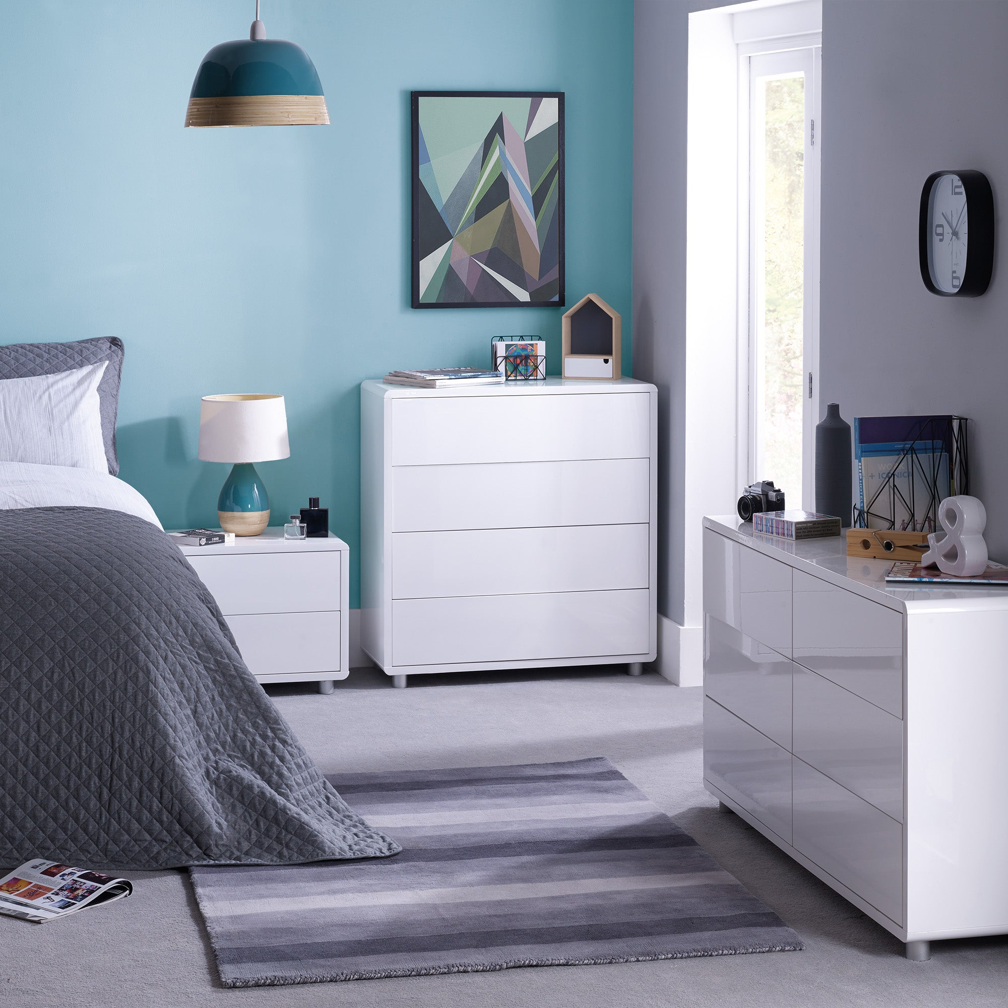 Soho White Bedroom Collection