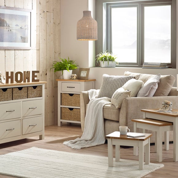 Sidmouth Cream Living Room Collection Dunelm