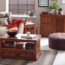 Louvre Dark Wood Living Room Collection
