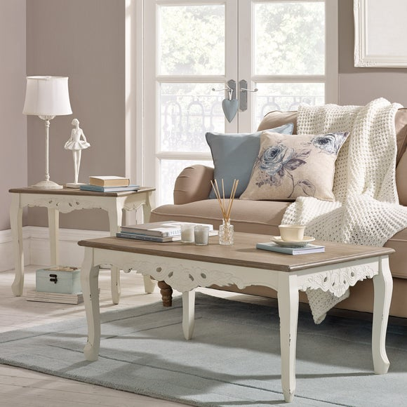 White Furniture  Living Room Dunelm Florence Ivory Modrox com