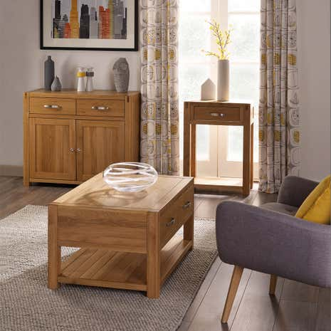 Delightful Hastings Solid Oak Living Room Collection