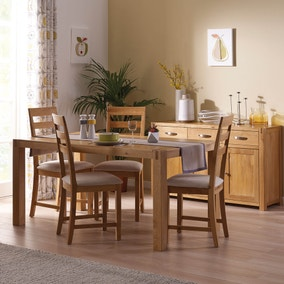 Attractive Hastings Solid Oak Dining Room Collection