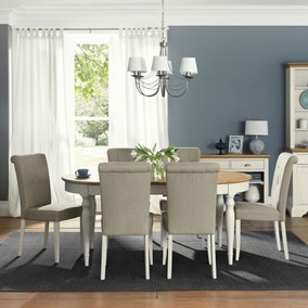 Eaton Soft Grey Dining Room Collection