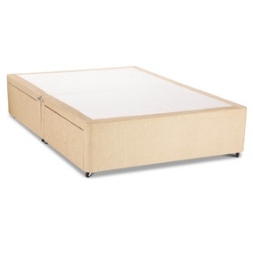 Divan Bed Base Sleep Relax Universal Double White Faux Suede Divan Base Super King Divan Bed