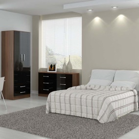 Lynx Walnut and Black Bedroom Collection