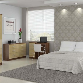 Lynx Walnut and Cream Bedroom Collection