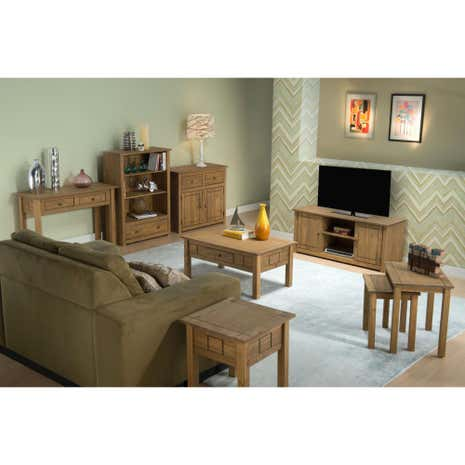 incredible pine bedroom furniture | Santiago Pine Living Room Collection | Dunelm