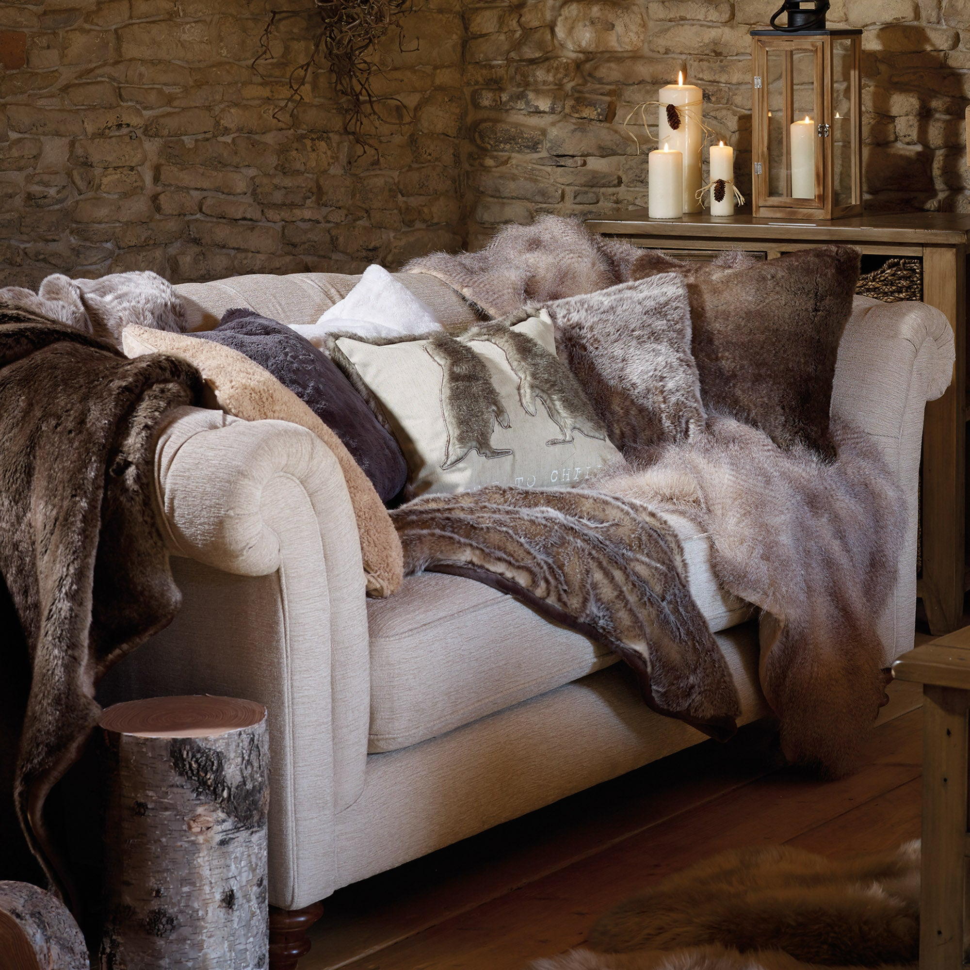 Faux Fur Cushion Collection