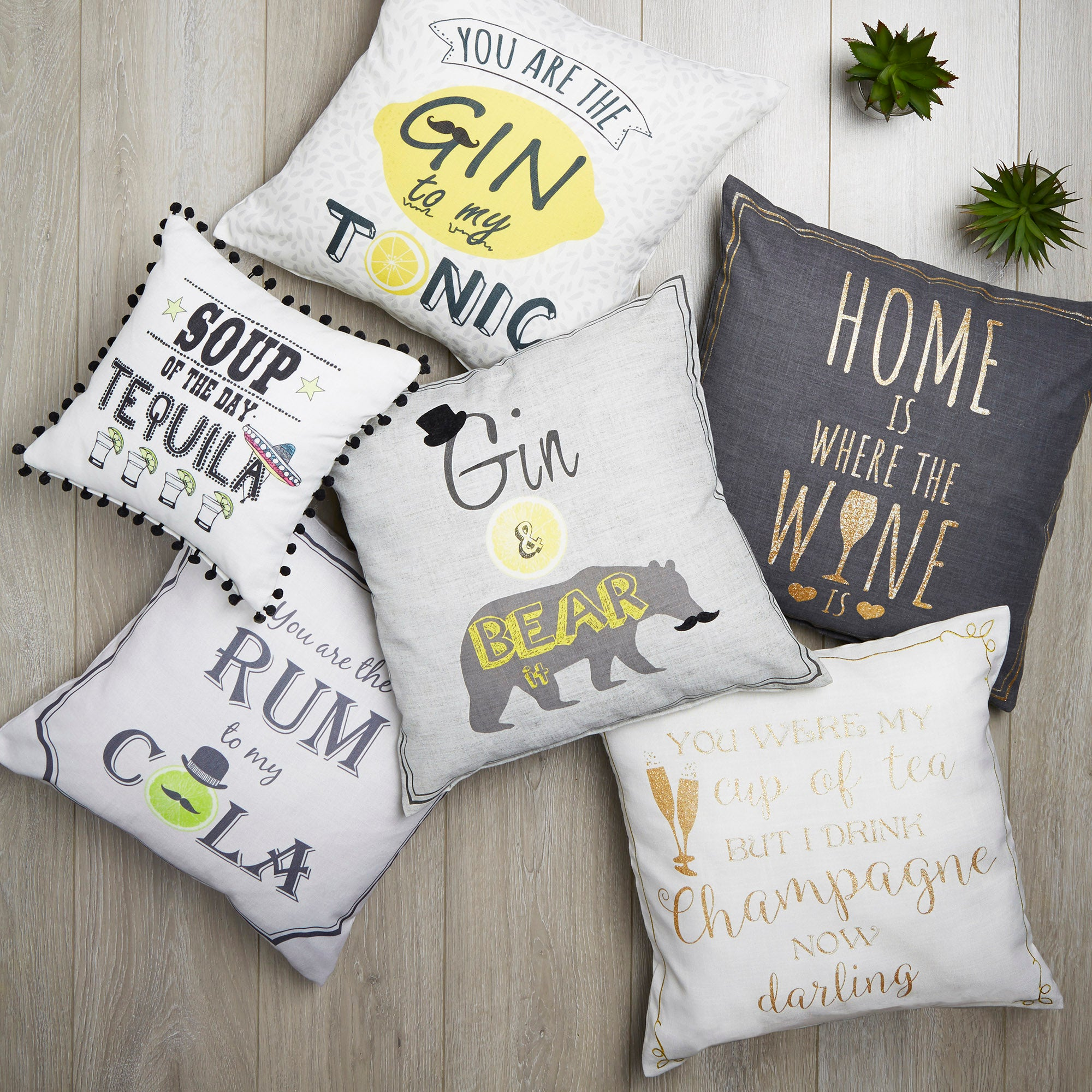 Alcohol Quote Cushions