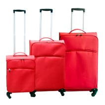Red Lightweight Luggage Collection