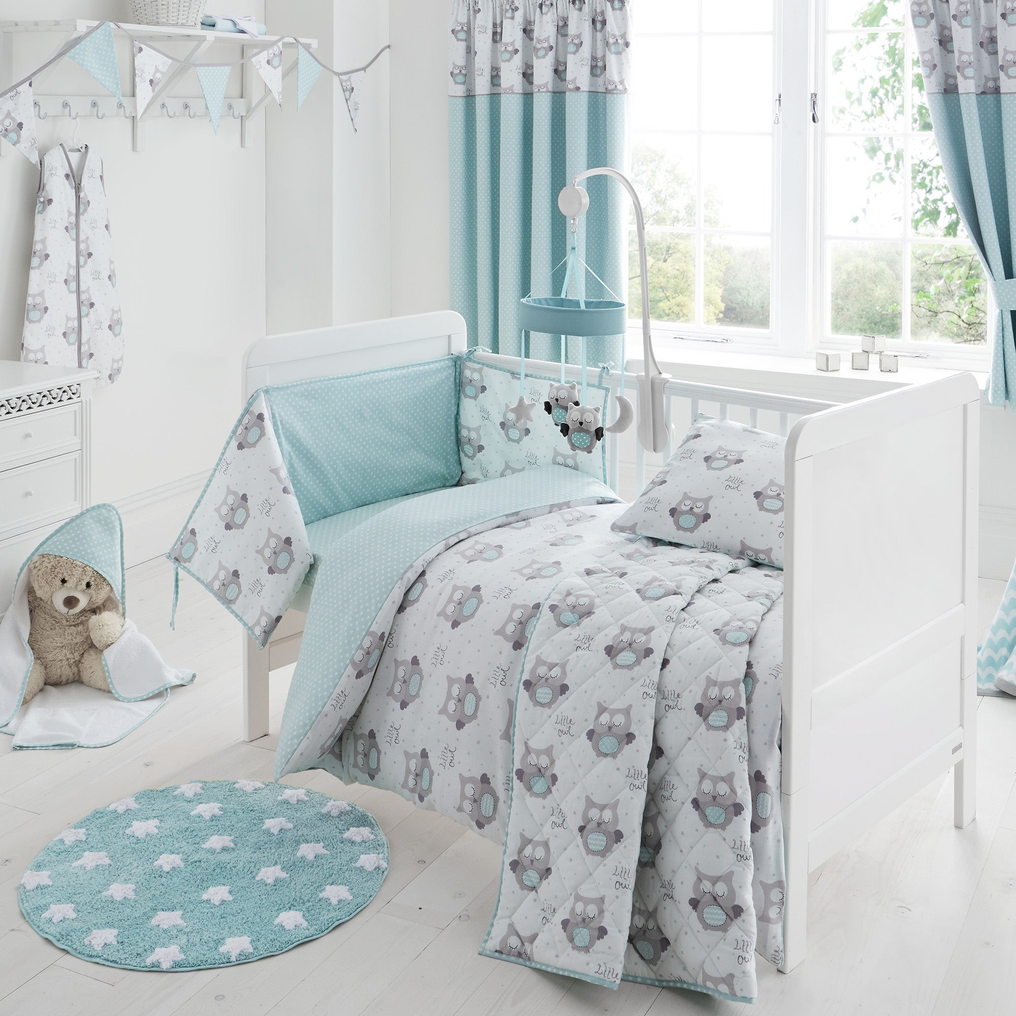 owls nursery bed linen collection dunelm