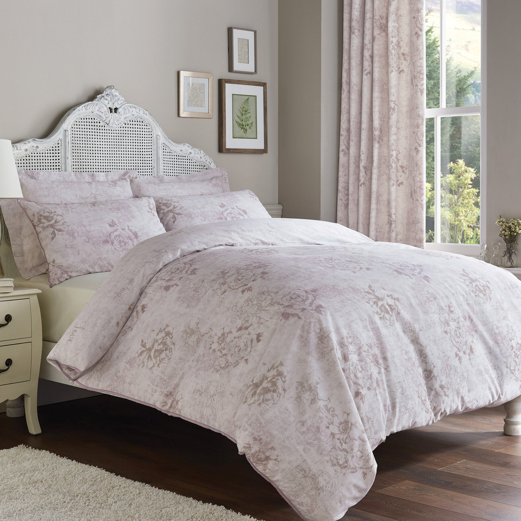 Cherub Pink Bed Linen Collection
