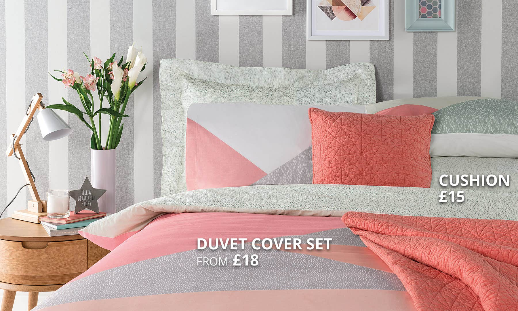 Elements Colour Block Bedding Collection