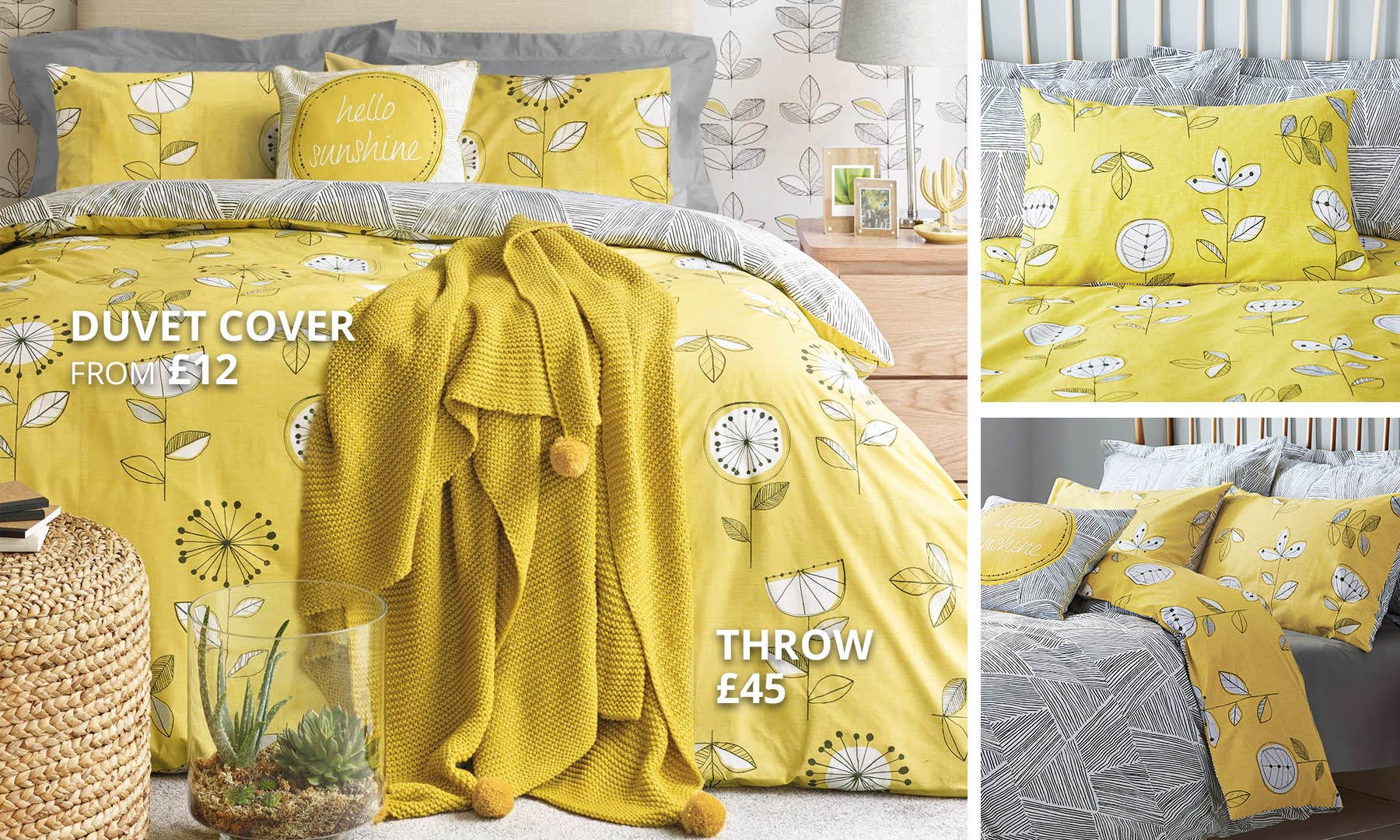 Elements Sunflower Yellow Bedding Collection