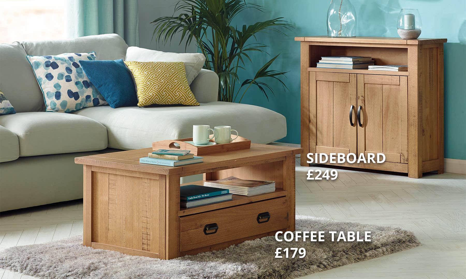 Fenton Pine Living Room Collection