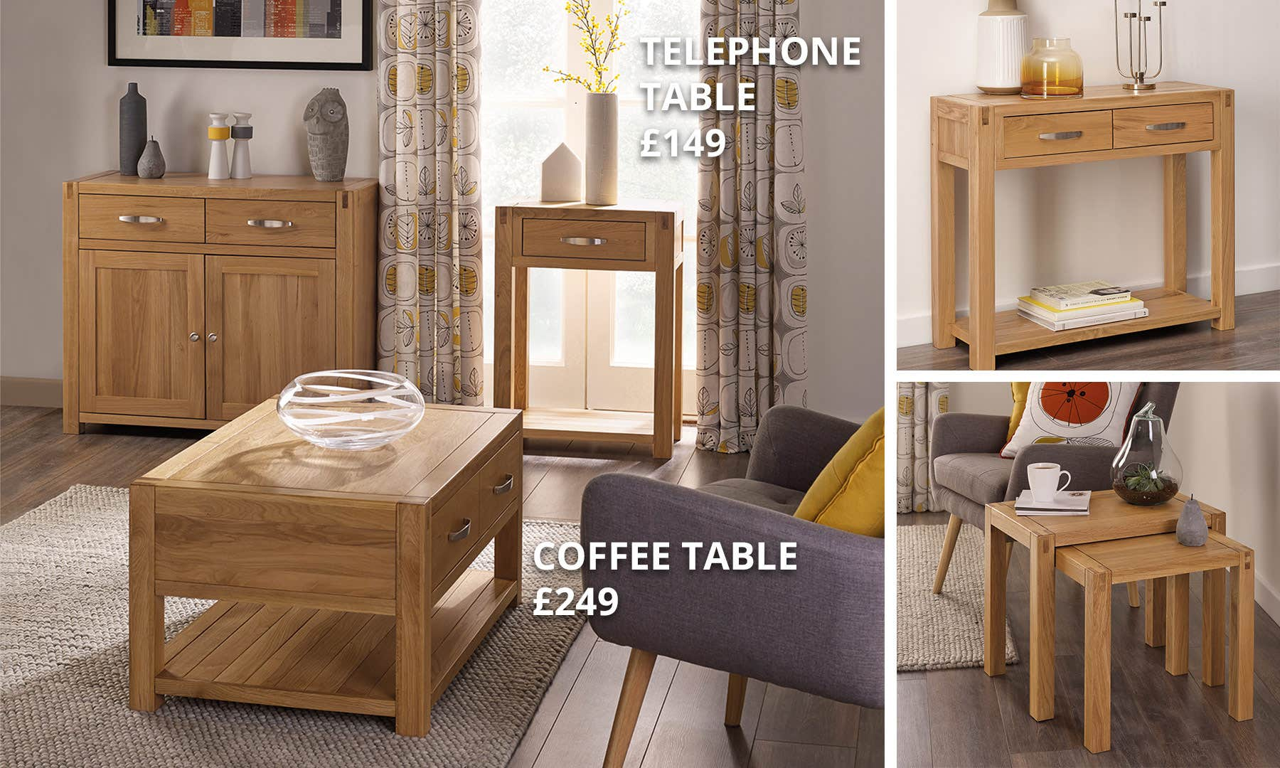 Hastings Oak Living Room Collection Dunelm