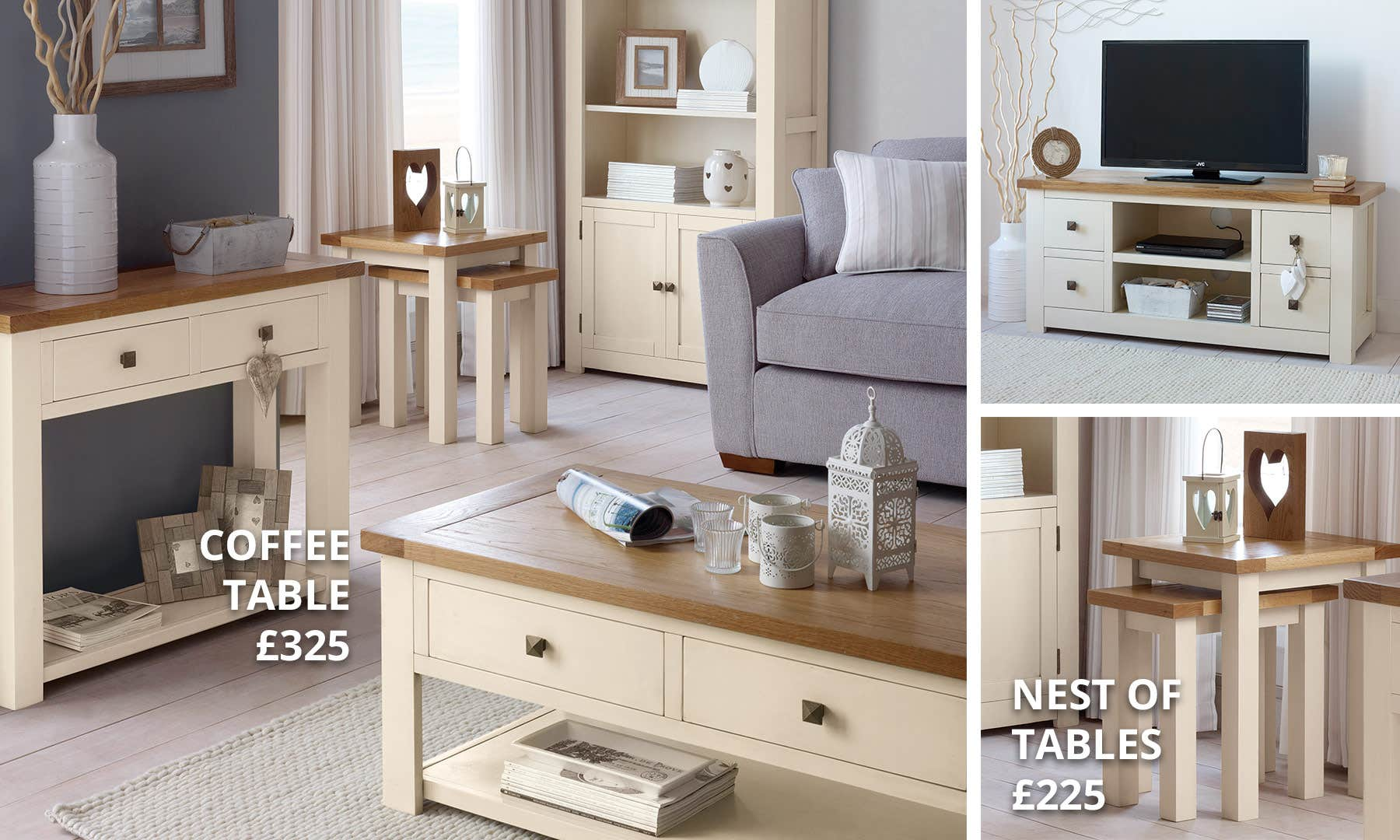 Henley Cream Living Room Collection