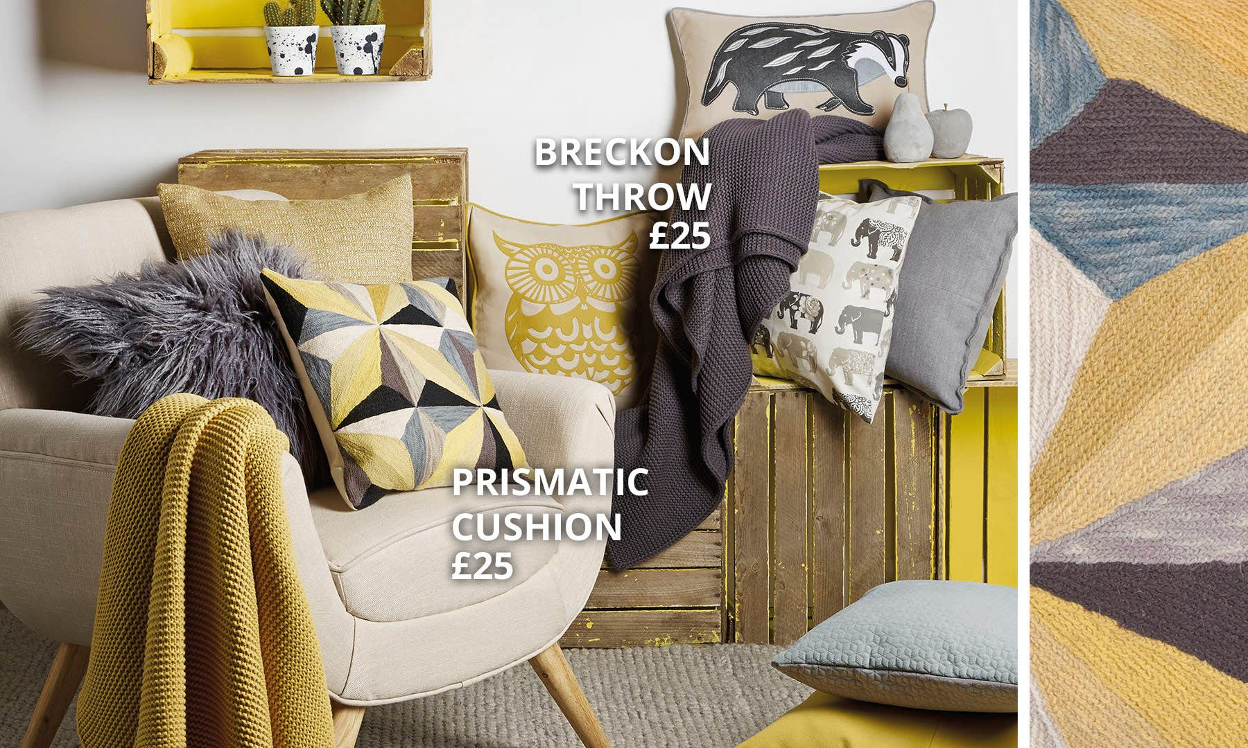 Ochre And Grey Collection Dunelm