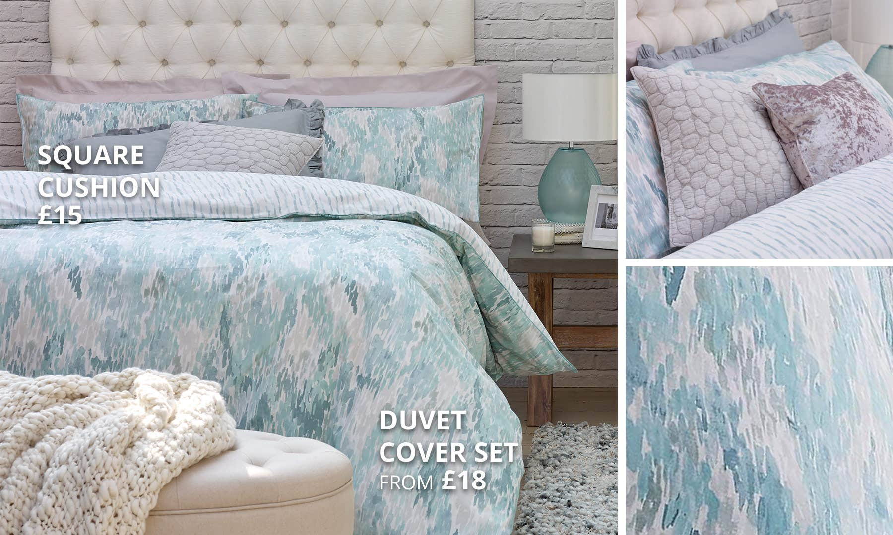 Waves Teal Bedding Collection