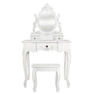 Toulouse White Dressing Table and Stool