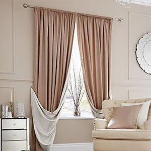 Natural Elegance Lined Slot Top Curtains