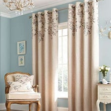 Duck Egg Emily Lined Eyelet Curtains