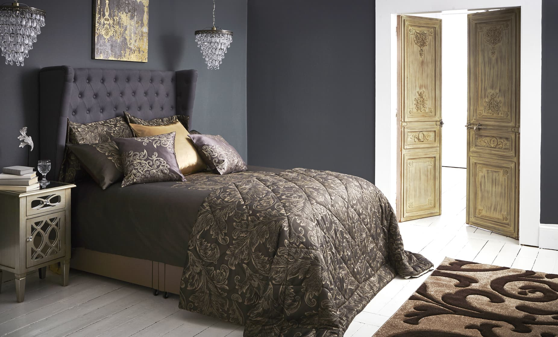 Elegant Script Bedroom