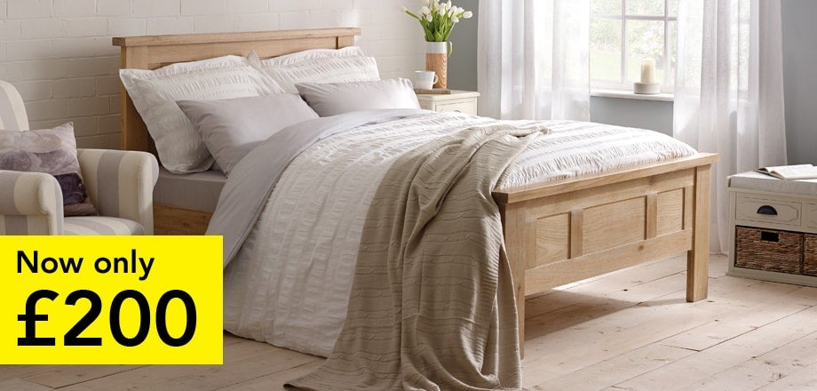 Henley Washed Oak Bedstead