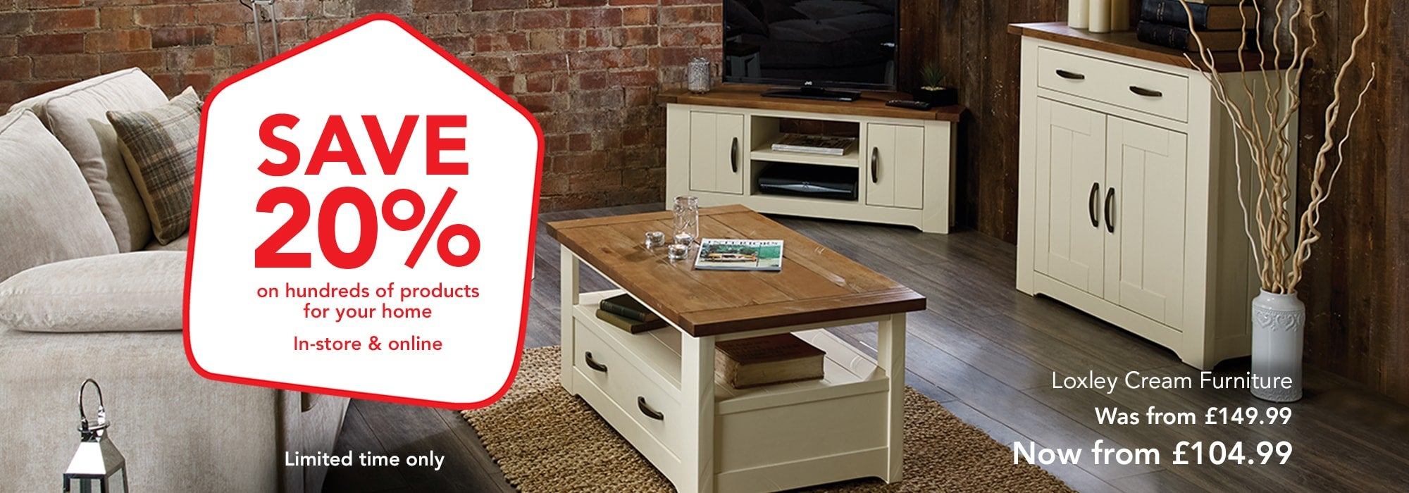 SAVE 20% on hundreds of products for your home