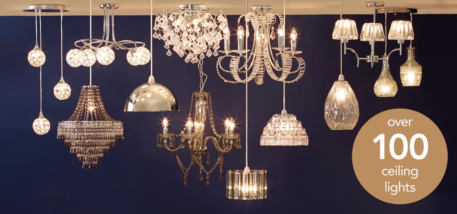 Dunelm Crystal Ceiling Lights : Lights home lighting dunelm