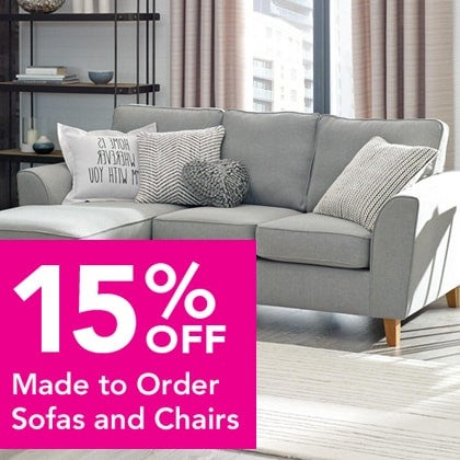 15% off Made to Order Sofas and Chairs